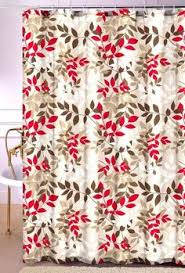 Shower Curtains With Red Shower Curtain Monogram Custom You Choose Colors Red Black Gray
