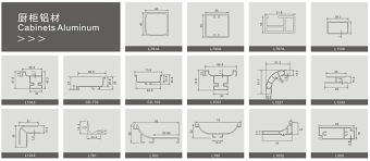 Kitchen Cabinet Door Profiles Kitchen Cabinet Door Frame G Handle Edge Aluminum Profile Kitchen