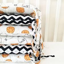 crib bumper milk and cookies bumpers baby bedding bumper