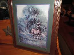 home interior deer picture vintage prints home interior shabby cottage chic f massa oval