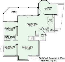 2 Bedroom Floor Plans With Basement Mesmerizing House Plans With Basement 2 Bedroom Walkout Basement