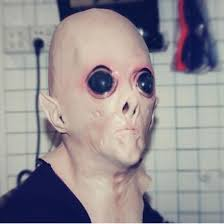 funny scary silicone face mask alien ufo extra terrestrial party