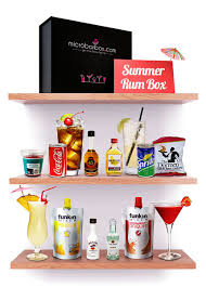 summer rum cocktails for a party in the garden microbarbox