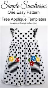 easy sewing pattern for an infinitely customizable little girls