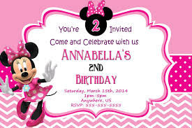 birthday invitation card minnie mouse birthday invitations new