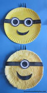 paper plate minions