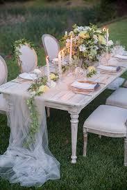 tulle table runner soft garden wedding ideas garden weddings and