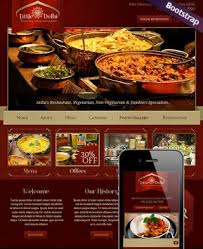 indian menu template restaurant templates from www bootstrap template