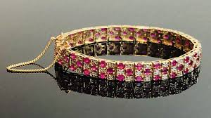 gold bracelet diamonds images Ladies 14kt gold bracelet with rubies and diamonds finley 39 s jpg