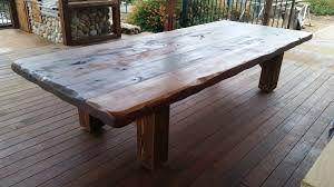 Cedar Table Top by Solid Hand Crafted Tables Chairs U0026 Furnishings Patios Decks