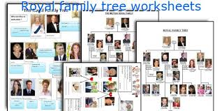 english teaching worksheets royal family tree