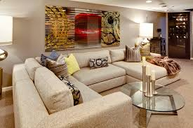 Beige Sectional Sofas Thomasville Sectional Sofas Basement Contemporary With Artwork