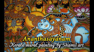 Paint By Number Mural by Ananthasayanam Kerala Mural Painting Steps By Shamilart