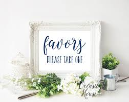 printable navy blue favors please take one sign wedding favor