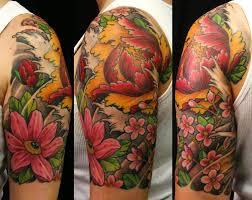 collection of 25 half sleeve japanese chrysanthemum design