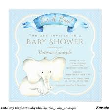 cute boy elephant baby shower invitations watercolor baby shower