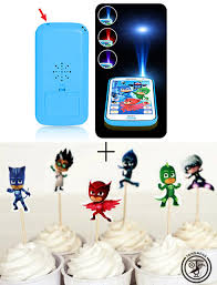 Home Cake Decorating Supply 24pcs Pjmasks Cake Decorating Tools Fruits Cupcake Inserted Card