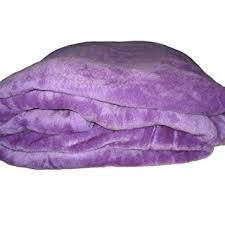 new solid light purple mink fleece blanket home