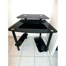 table de bureau en verre table en verre alinea bureau en verre trempac noir bureau table