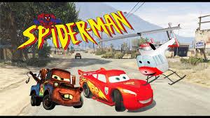 monster trucks lightning mcqueen spiderman spiderman disney cars lightning mcqueen repair police sprinter