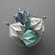 geo origami ornaments by all things paper project home