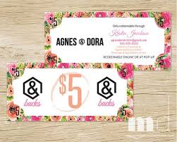 small business gift cards agnes bucks coupon voucher gift certificate floral