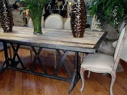 rustic metal and wood dining table rustic metal dining table lemondededom com
