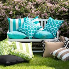 Ideas For Outdoor Loveseat Cushions Design Blue Outdoor Pillows Superb Lumbar Patio Pillows Home Design Ideas
