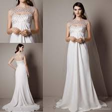 cheap wedding dresses cap sleeve crepe sheath gown with