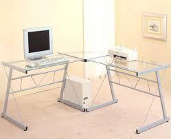 small black desks computer desks c frame glass and metal corner computer desk top