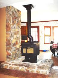 stone installation around new wood burning fireplace hearth com