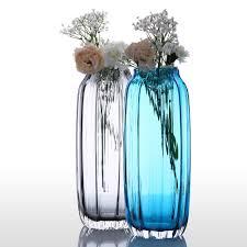 Modern Flower Vase Arrangements Aliexpress Com Buy Glass Vase Modern Ribbed Design Glass Vase