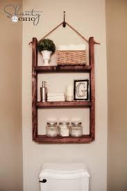 Diy Ladder Shelf Shelves Tutorials by How To Make A Hanging Bathroom Shelf For Only 10 Shelves Walls