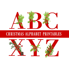 red christmas alphabet u0026 number printables christmas alphabet
