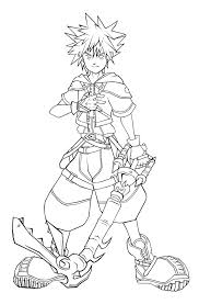 kingdom hearts coloring pages glum me
