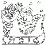 santa claus coloring pages fablesfromthefriends
