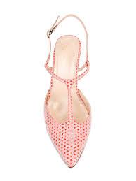lenora escarpins à pois fluo arancio femme chaussures femme
