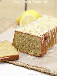 lemon pound cake with coconut lightened food done light