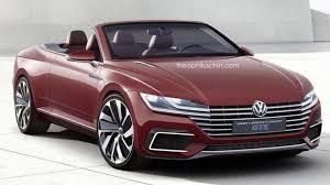 volkswagen convertible volkswagen eos replacement rendered as the sport cabriolet concept gte
