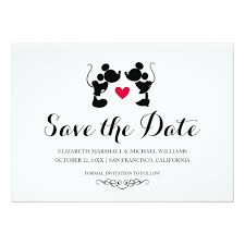 mickey minnie wedding silhouette save the date card zazzle