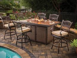 Patio Furniture Bar Height Set by Bar Height Fire Pit Table Set