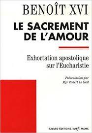 si e apostolique sacramentum caritatis exhortation apostolique sur l eucharistie