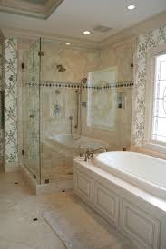 custom shower door with tub enclosed in wet room featured on