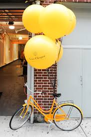 oversize balloons guests arriving at industria superstudio were met by groupings of