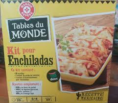 kit cuisine du monde kit pour enchiladas tables du monde 517 g