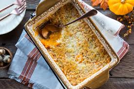 butternut squash casserole with parmesan panko topping