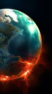 burning universe wallpapers earth planet explosion android wallpaper free download