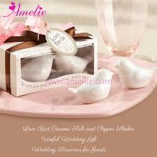 wedding souvenirs personalized bird ceramic salt and pepper shaker wedding