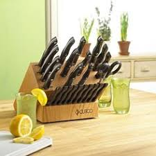 6 pc table knife set with block knife sets table knives and