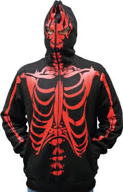 halloween jacket amazon com full zip up skeleton print hooded sweatshirt